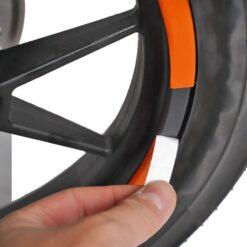 apdailos juostelės ratams